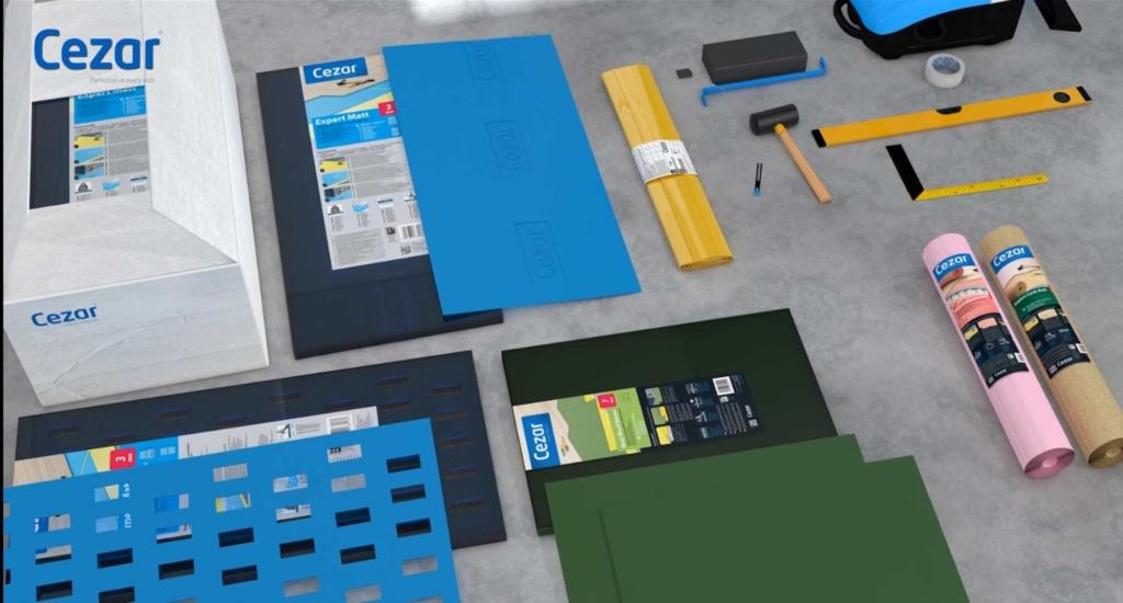 pianka, modele 3d, montaż paneli przypodłogowych