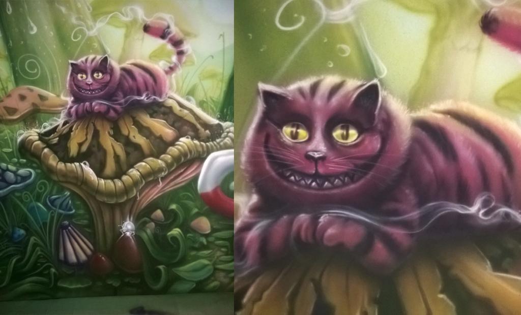 detal, labirynt, mural w Chinach