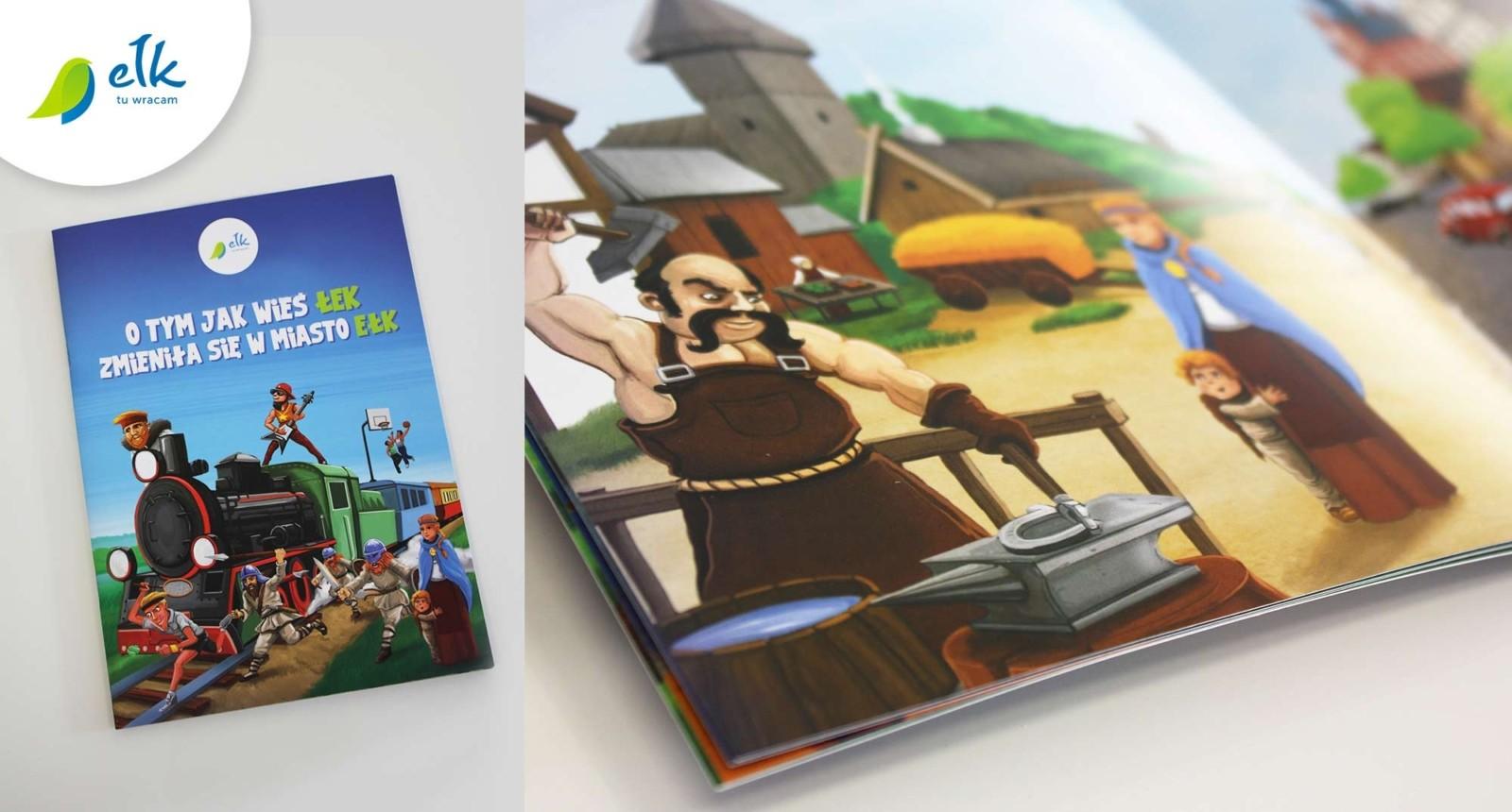 ilustrowana książeczka o historii Ełku