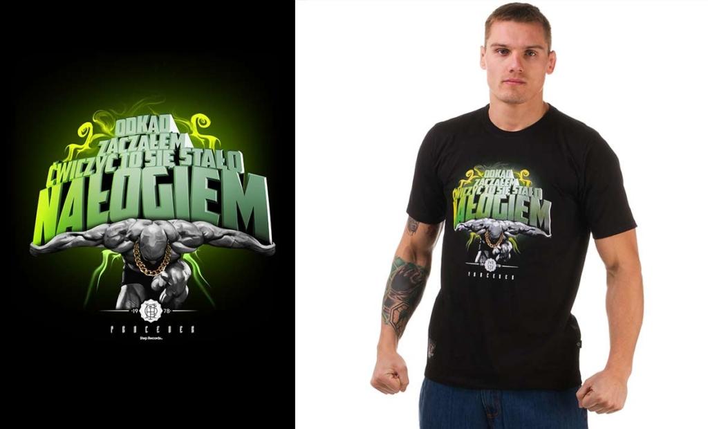 projekt na koszulkę sportową, nałóg, pasja