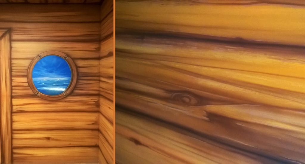 statek pirata, drewno, deski