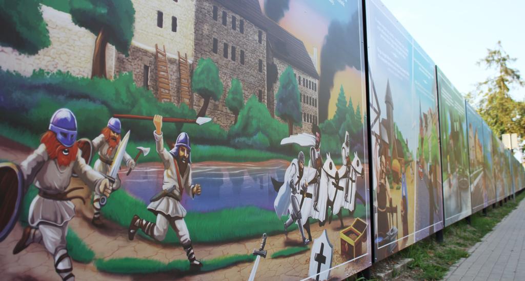 Jaćwingowie, Krzyżacy, zamek, Ełk, bitwa, ilustracje