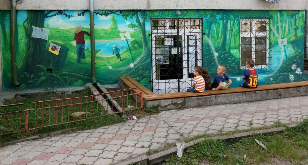mural dla fundacji, świetlica dla dzieci