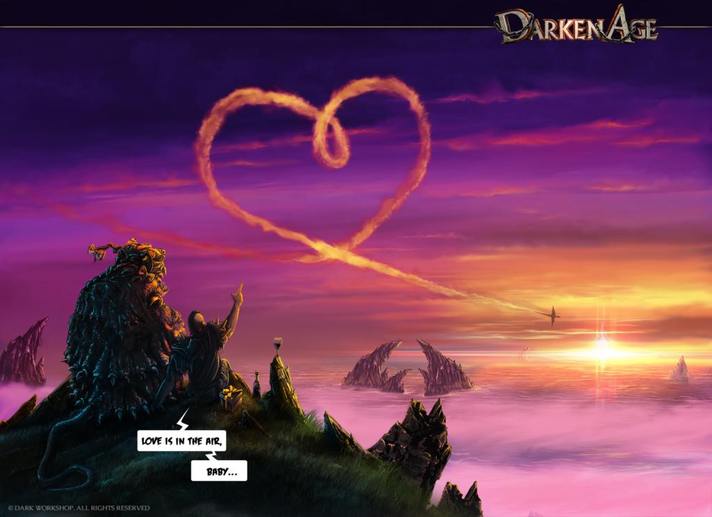 nietuzinkowa, oryginalna ilustracja walentynkowa dla zakochanych