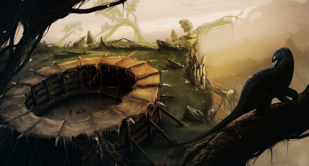 Arena walk, concept art, ilustracja