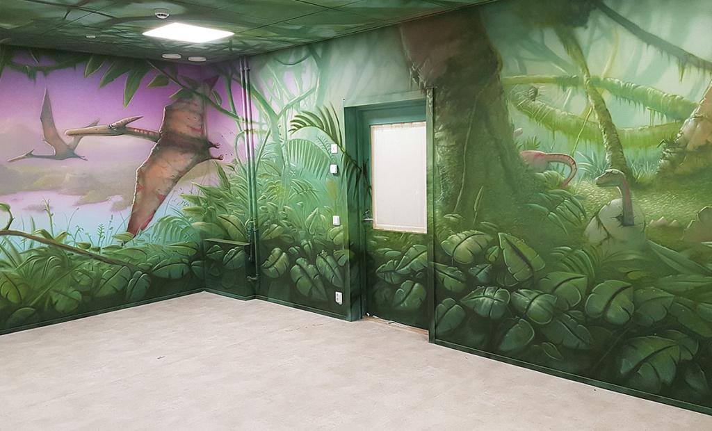 pterodaktyl, malunki na ścianie, fajne malunki