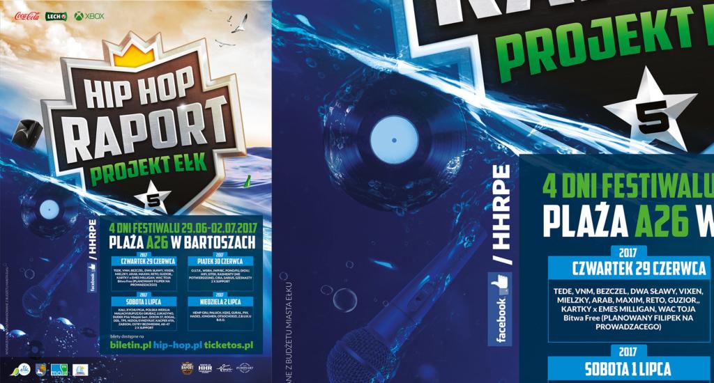 piąta edycja festiwalu Hip Hop Raport Ełk, projekt plakatu