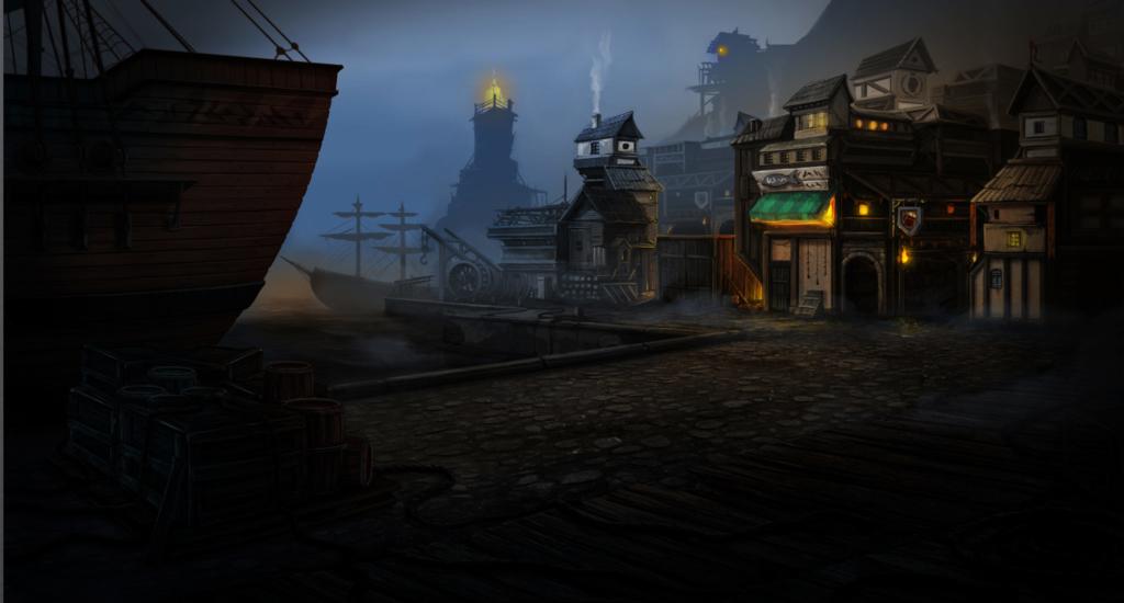 port, concept art, przystań do gry