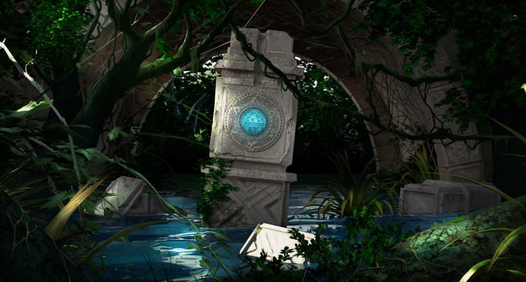 concept art, ruiny, pomnik, emblemat