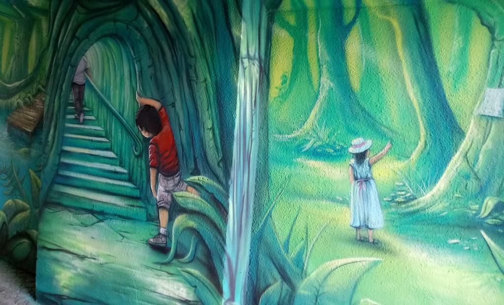magiczny świat dziecka, malarstwo