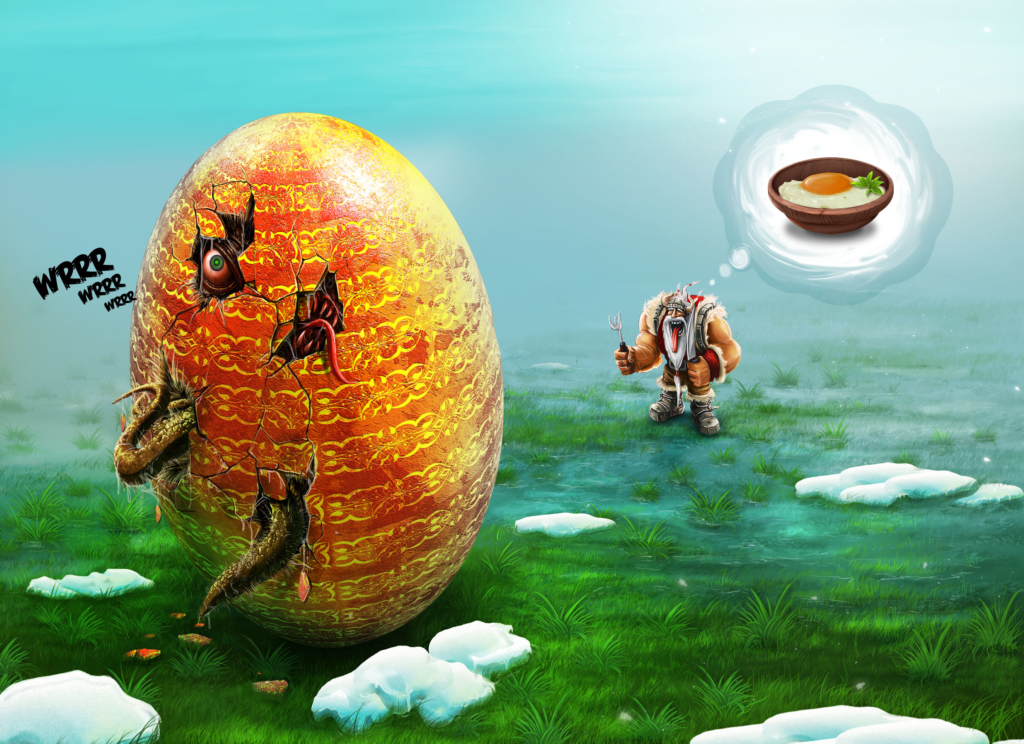 humor, Wielkanoc, święta, jajo, ilustracja