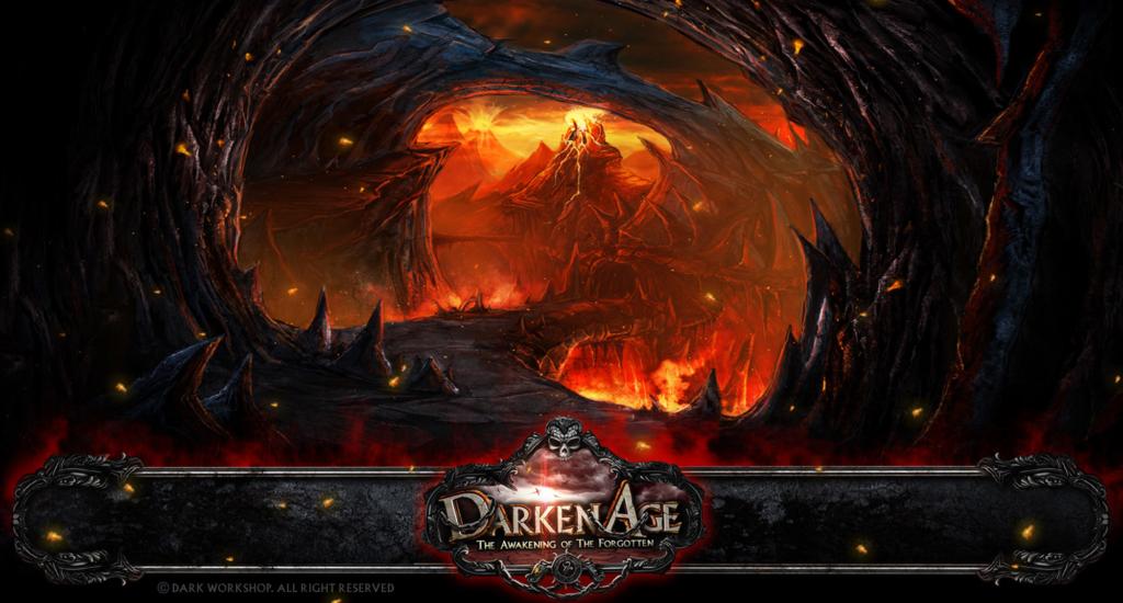 ilustracja do gry, concept art, jaskinia, potwory