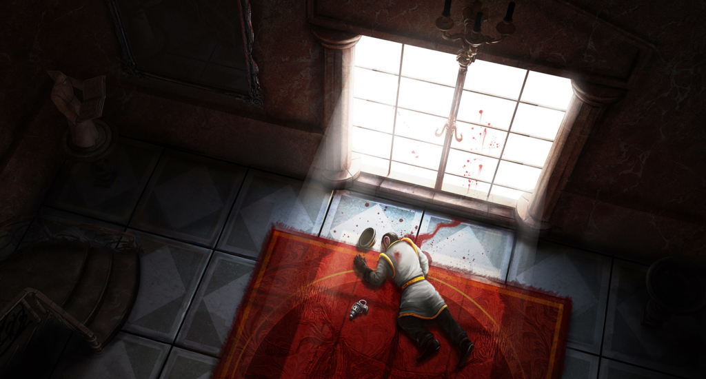 morderstwo, samobójstwo, willa, ilustracja