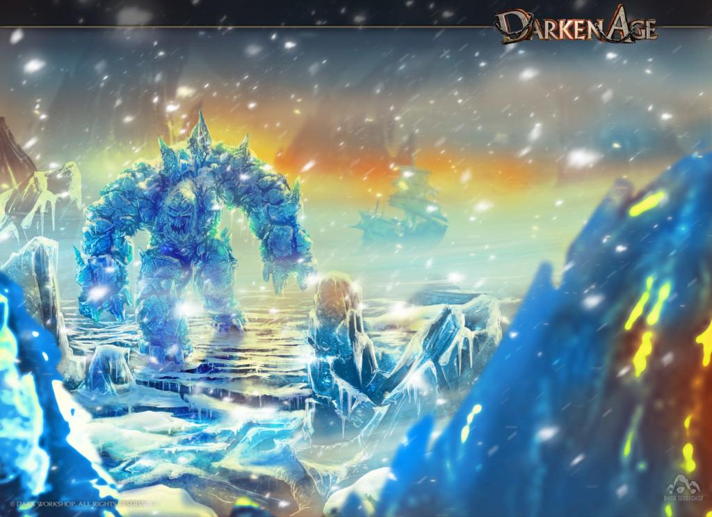 lodowa bestia, concept art, ilustracja zimy