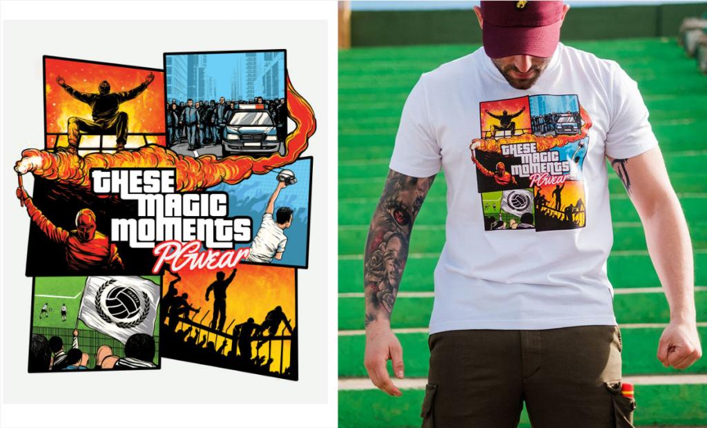 Koszulka stylizowana na wzór GTA, PGWEAR, komiks, grafika, ilustracja