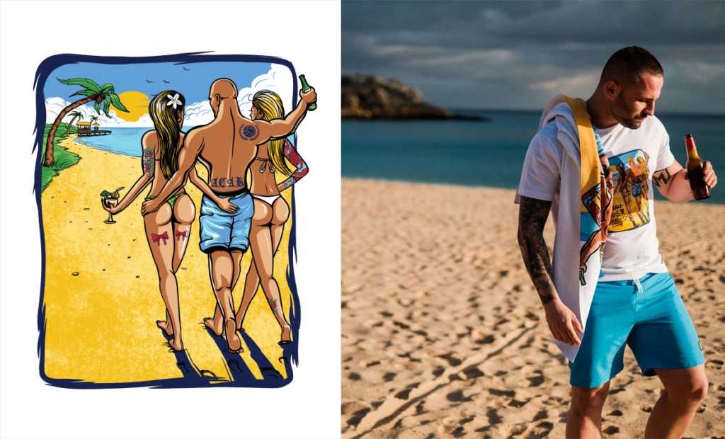vacation, PGWEAR, koszulka, design,