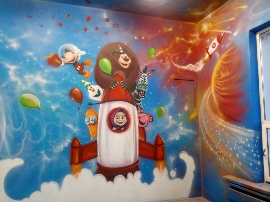 space, kosmos, malunki dla dzieci, rakieta, masza, niedzwiez, minionki, mickey mouse, świnka peepa, zebra,