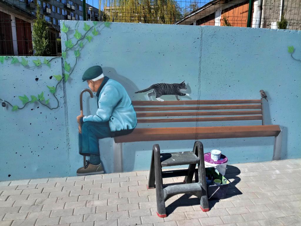 Malarstwo iluzoryczne, iluzjonistyczne tompe-l oil, Wydziału Komunikacji w Ełku