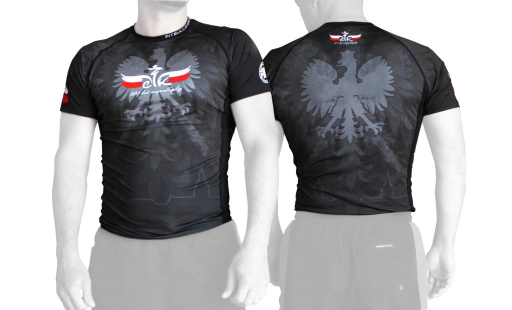 koszulka rashguard, rashguard patriotyczny, miasto Ełk, koszulka sportowa, projekt grafiki na koszulkę
