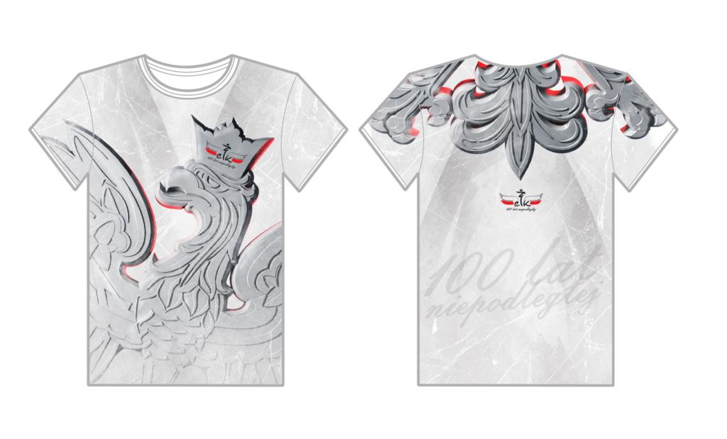 logo ełk niepodległa, projektowanie znaku, logo patriotyczne, obchodukoszulka 100 lat niepodleglej, obchody patriotyczne, pit bull, maraton, koszulka sportowa, koszulka oddychająca