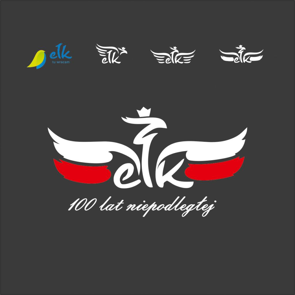 logo ełk niepodległa, projektowanie znaku, logo patriotyczne, obchodu