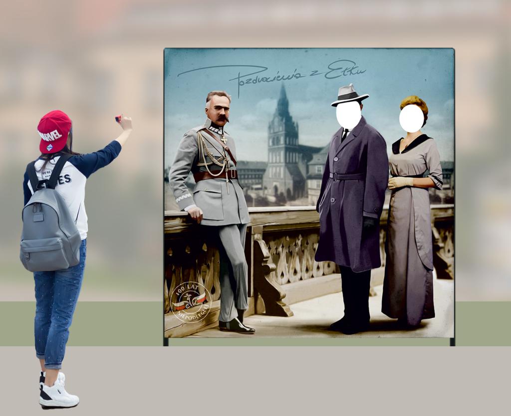 tablica fotograficzna, Piłsudski