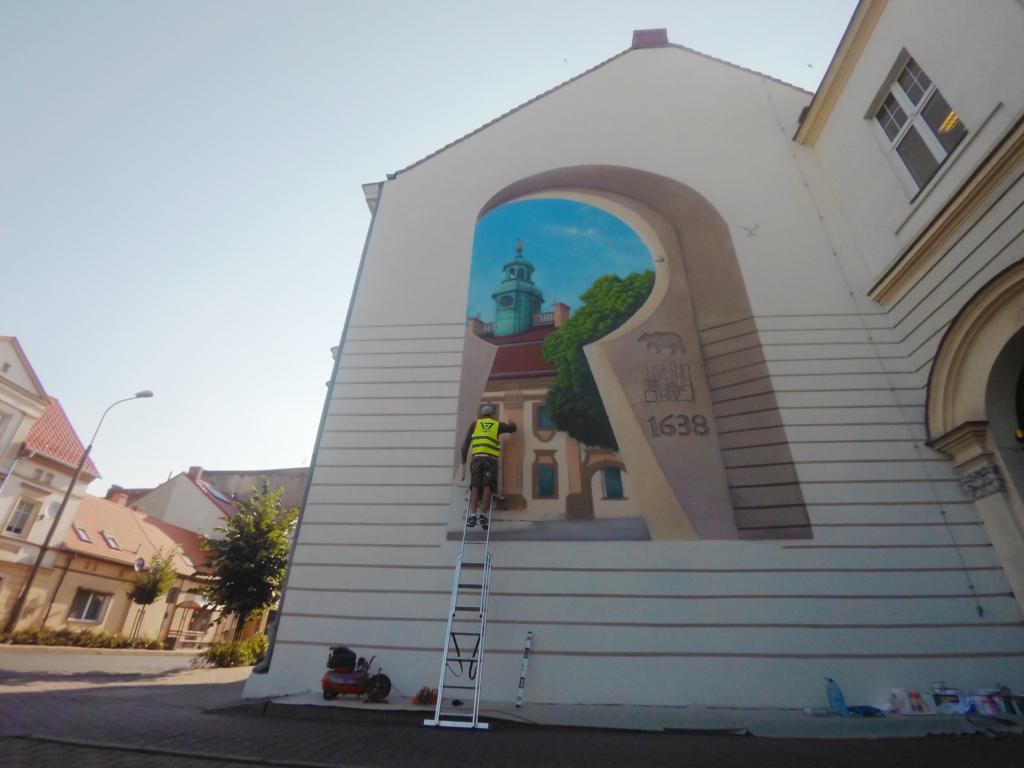 mural, ratusz, zlecenie, głębia, design, projektowanie muralu,