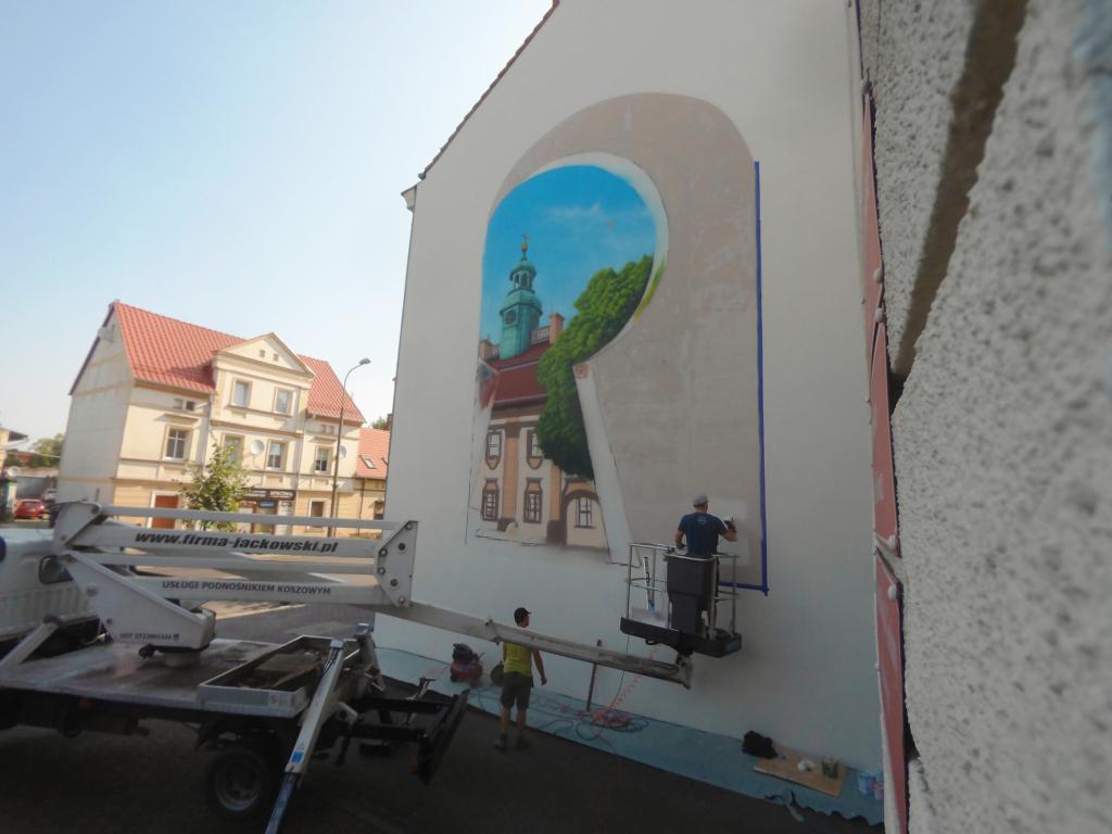 nowy mural w Rawiczu