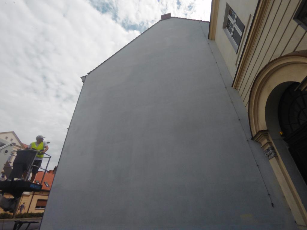 mural przed malowaniem, przygotowanie, malujemy mural