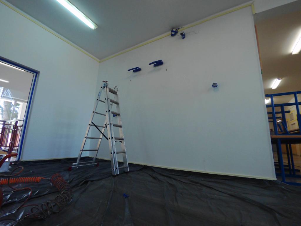 ściana przed malowaniem