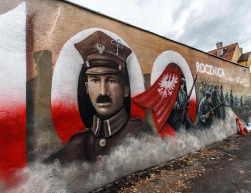 Mural na murach więzienia w Rawiczu