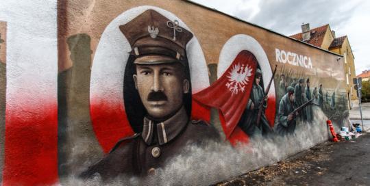 Ignacy Busza, mural historyczny, Rawicz, więzienie, mury