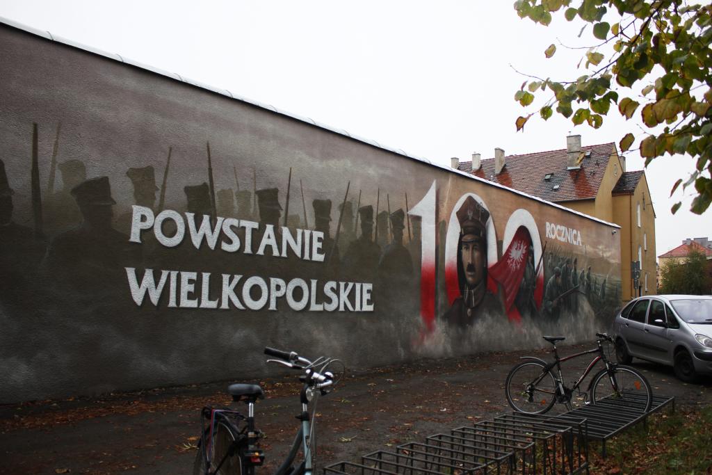 Powstanie wielkopolskie, malowidło w Rawiczu