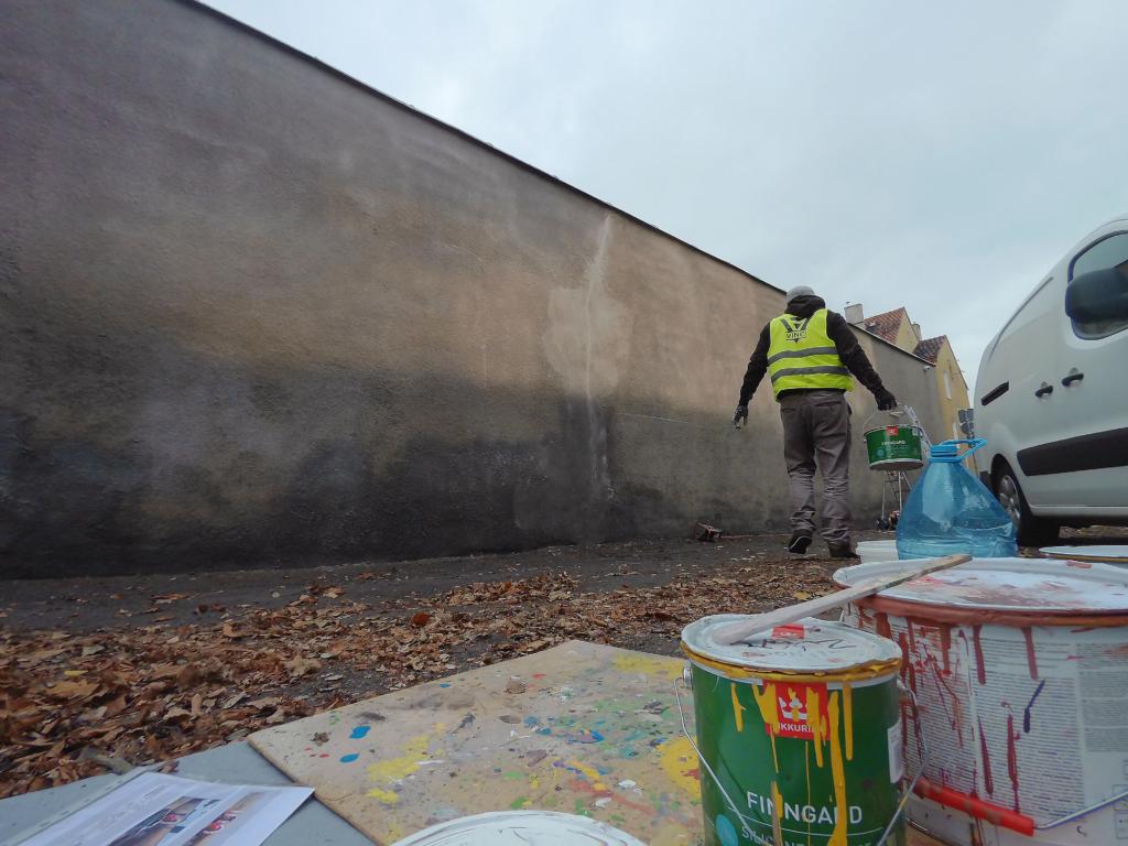 przygotowanie podłoża pod mural