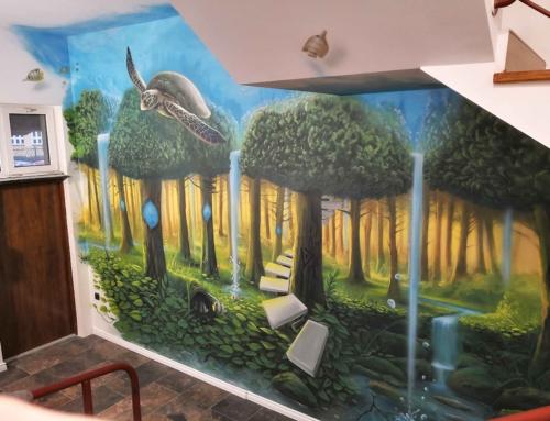 Malowidło ścienne w Grand Apartamenty