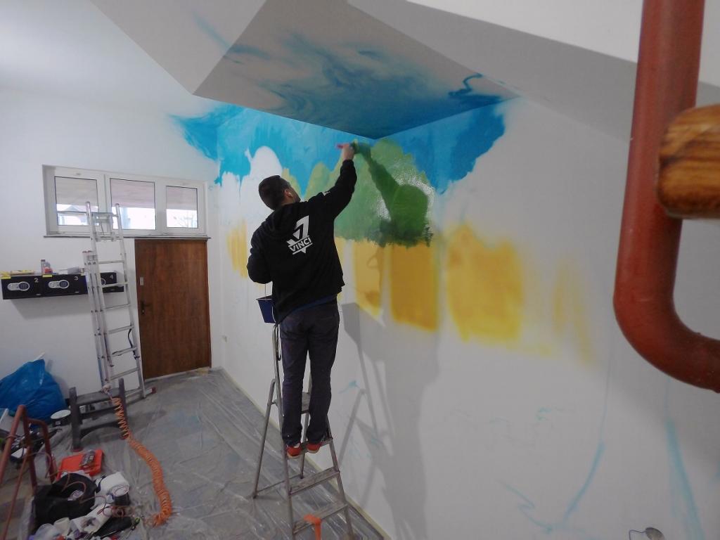 drzewo, woda, rybki, kora, surrealistyczne drzewa, apartamenty, artystyczne malowanie