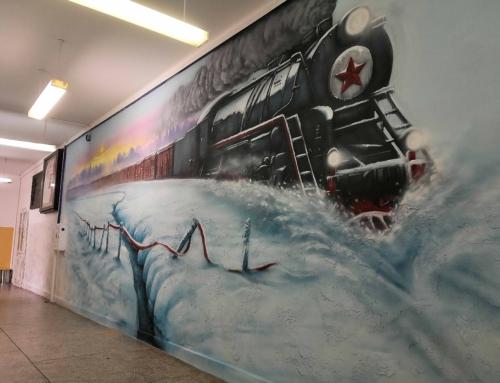 Malowidło artystyczne Sybiracy