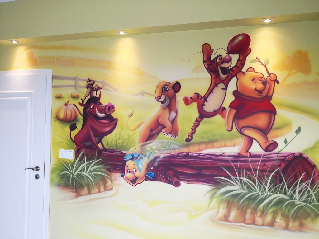 ściany w pokoju dzieci