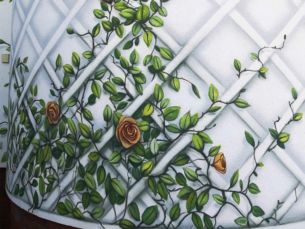kwiatki malowane dom