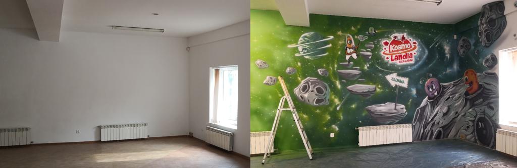 malowidło przed i po