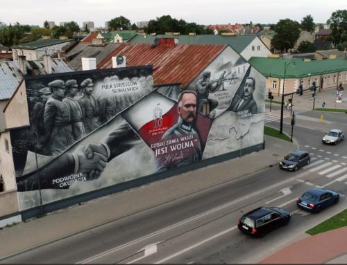 Suwałki dla Niepodległej-mural konkursowy
