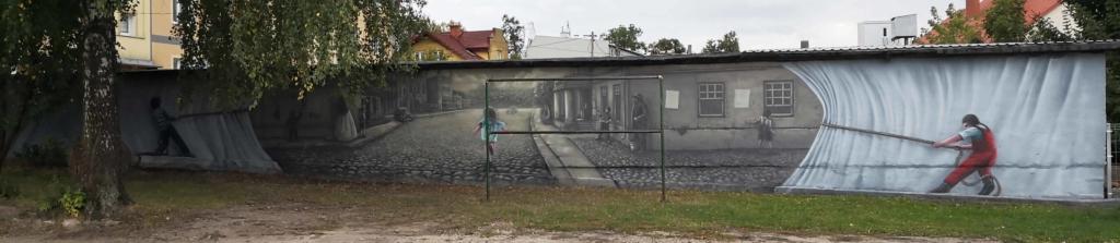 arys, mural, orzysz, kurtyna, mural 3d