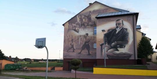 mural henryka sienkiewicza w wasoszu