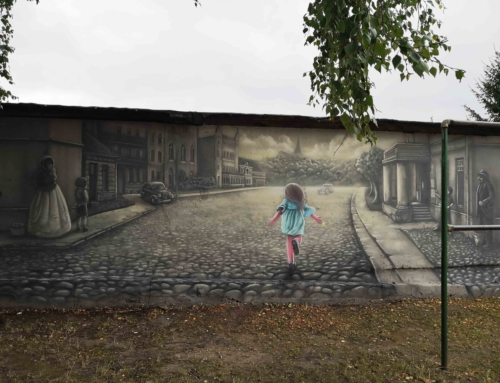 Muralik Kurtyna w Orzyszu