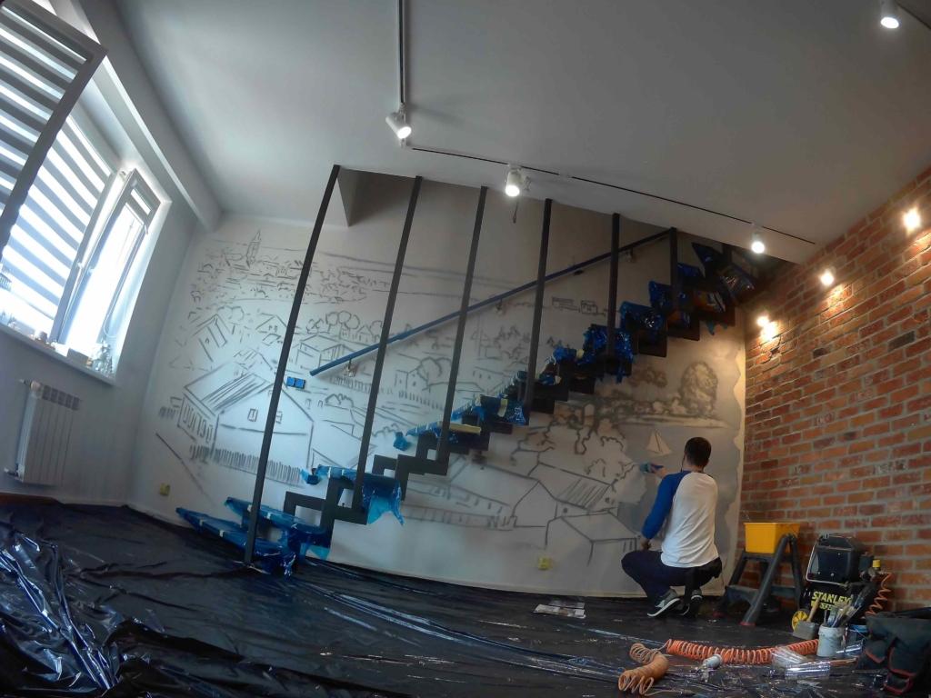 malujemy panoramę Ełku