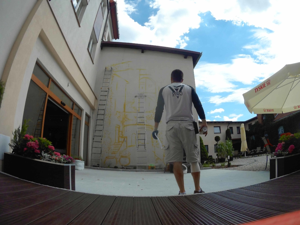 mural 3d z uliczką