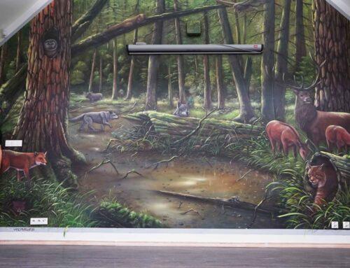 Malowidło w Parku Krajobrazowym Puszczy Rominckiej