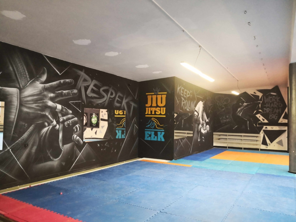 sala treningowa dla brazilian jiu jitsu w Ełku