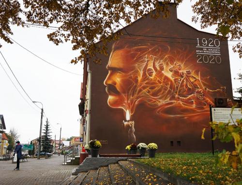 Mural 100. rocznica Bitwy Warszawskiej