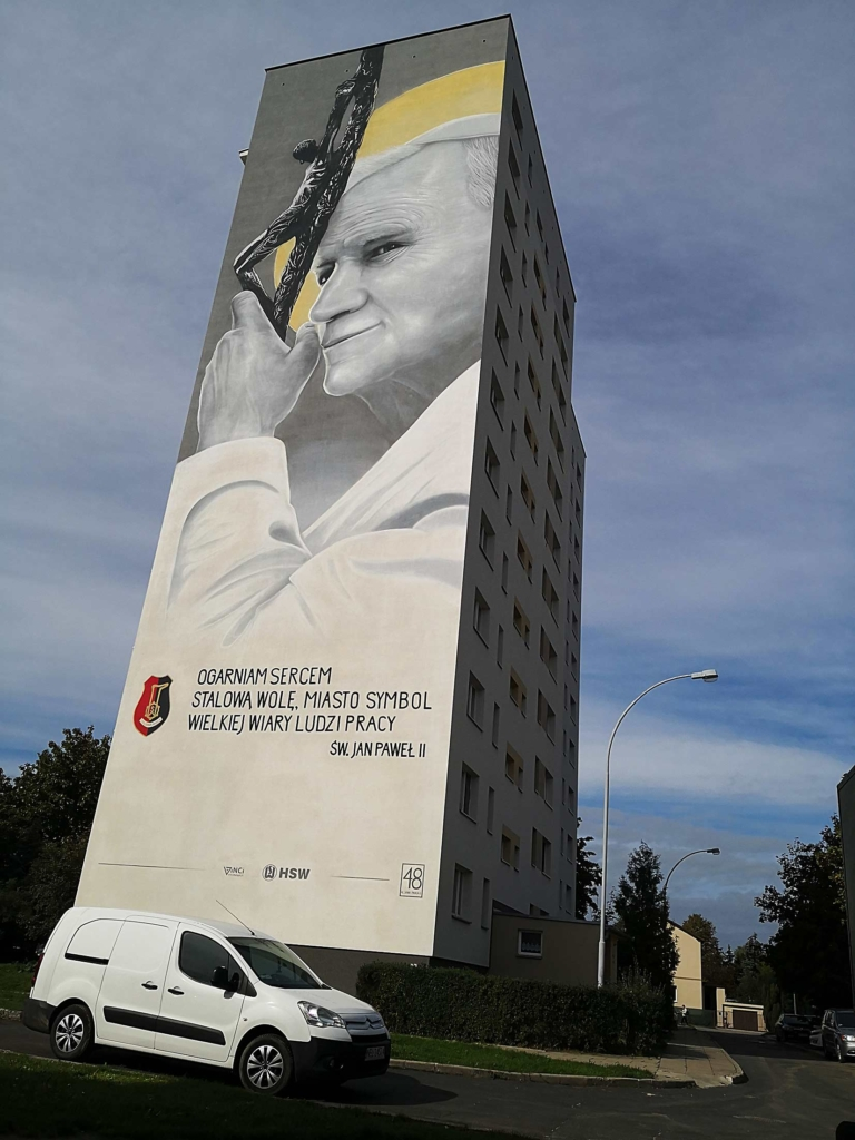 100. rocznica Bitwy Warszawskiej mural